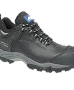 BLACK WAXY FULLY WATERPROOF SAFETY SHOE