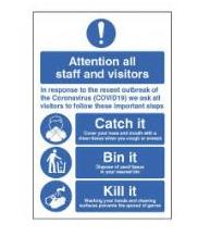 Catch it Bin it Kill it Floor Graphic
