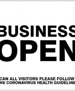 Business Open poster
