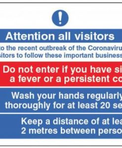 Attention all visitors notice