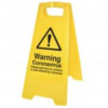 Warning Yellow A Frame Sign